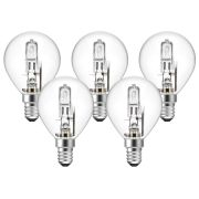 Eveready  Eveready Eco Golf 48W(60W) E14 Light Bulb - Pack of 5