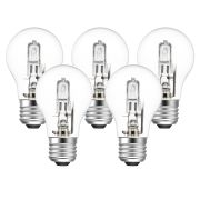 Eveready  Eveready Eco GLS 30W(40W) 220-240V Clear E27 Light Bulb - Pack of 5