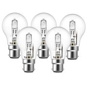 Eveready  Eveready Eco GLS (A-Shape) 46W(60W) B22 Light Bulb - Pack of 5