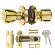 ERA 166-31 ERA Entrance Knob Lock Set Tulip - Brass
