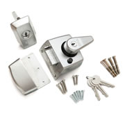 ERA 193-35-1 ERA Nightlatch 60mm Sat/Ch Body, Sat/Ch Cylinder