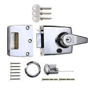 ERA 193-37-1 ERA Nightlatch 60mm Pol/Ch Body, Pol/Ch Cylinder