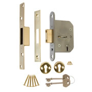 ERA 201-31 ERA Viscount 5 Lever Mortice Deadlock 64mm - Brass