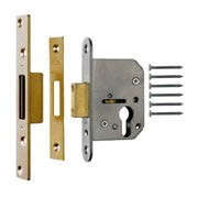 ERA Viscount Euro Deadlock 64mm - Brass