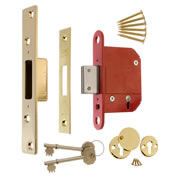 ERA 261-31 ERA BS High Security Fortress 5 Lever Deadlock 64mm - Brass