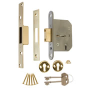 ERA 301-31 ERA Viscount 5 Lever Mortice Deadlock 76mm - Brass