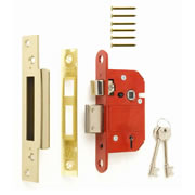 ERA 362-31 ERA BS High Security Fortress 5 Lever Sashlock 76mm - Brass