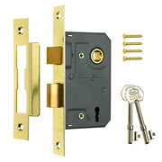 ERA 573-31 ERA 3 Lever Sashlock 76mm - Brass