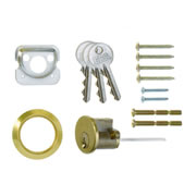 ERA 863-31 ERA Rim Cylinder with 3 Keys - Brass
