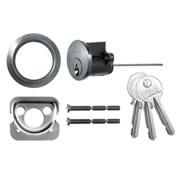 ERA 863-51 ERA Rim Cylinder with 3 Keys - Satin