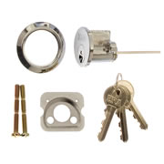 ERA 863-61 ERA Rim Cylinder with 3 Keys - Chrome