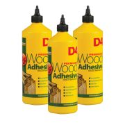Everbuild D4 D41 Wood Adhesive 1 Litre - Pack of 3