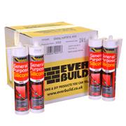 Everbuild GPSTRBOX25 Everbuild General Purpose Silicone Sealent (C3) Translucent (Box of 25)
