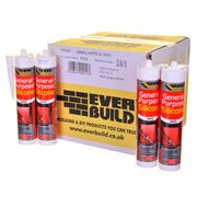 Everbuild GPSWEBOX25 Everbuild General Purpose Silicone Sealant (C3) White (Box of 25)