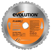 Evolution EVO210RAGE Evolution Multi-Purpose Saw Blade 210mm x 25.4mm 24T