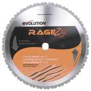 Evolution EVO355RAGE2 Evolution Multi-Purpose Saw Blade 355mm x 25.4mm 36T