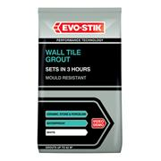 Evo-Stik 478718 Wall Tile Grout Mould Resistant White 1.5kg