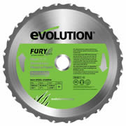 Evolution FURYBLADE255MULTI Evolution Multi-Purpose Saw Blade 255mm x 25.4mm 24T