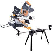 Evolution RAGE3PLUSPK Evolution Rage3 255mm Multipurpose Slide Mitre Saw & Stand