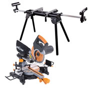 Evolution RAGE 3S PLUS-PK Evolution 210mm Multipurpose Sliding Mitre Saw & Stand Pack