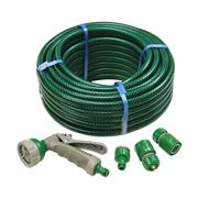 Faithfull  PVC Reinforced Hose 15m Fittings & Spray Gun