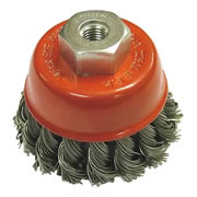 Faithfull FAIWBT80 Faithfull 80mm Wire Cup Brush M14