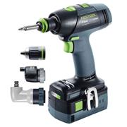 Festool 575694 T18+3 18v Drill Driver with 2 x 5.2Ah Batteries, Charger and Case