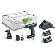 Festool TXS2,6-SET Festool 10.8V TXS Drill Driver with 2 x 2.6Ah Batteries Charger and Case