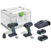 Festool 576493 Festool 576493 Drill & Impact Driver with 2x 3.1Ah Batteries, Charger & Case
