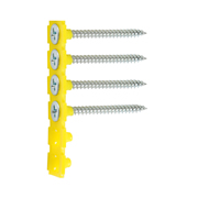 Timco 00025COLDZYS TIMco 3.5 x 25mm Fine Thread Collated Drywall Screws Zinc - Box of 1000