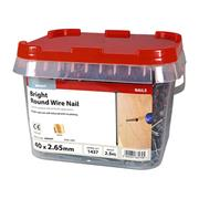 Timco  Timco 40 x 2.65mm Round Wire Nail - 2.5 KG Tub