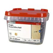 Timco  Timco 50 x 2.65mm Round Wire Nail - 2.5 KG Tub