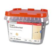 Timco  Timco 65 x 3.35mm Round Wire Nail - 2.5 KG Tub