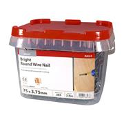 Timco  Timco 75 x 3.75mm Round Wire Nail - 2.5 KG Tub