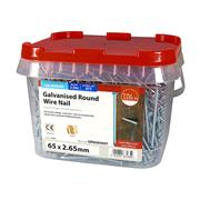 Timco  TIMco 65 x 2.65mm Galvanised Round Wire Nail - 2.5 KG Tub