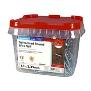 Timco  TIMco 65 x 3.35mm Galvanised Round Wire Nail - 2.5 KG Tub