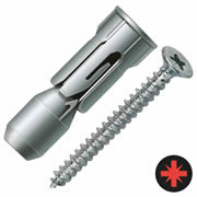 Fischer 15938 PD Plasterboard Fixing With Screw PD12 Pack of 25