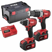 Flex 18VTWIN Flex 18v Cordless 2 Piece Kit