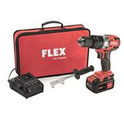 Flex ECFS55 Flex 18V Brushless Hammer Drill with 2 a 5Ah batteries, Charger and Bag