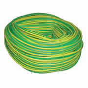 Greenbrook ES4 Green/Yellow PVC Sleeving 4mm x 100m