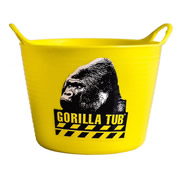 Gorilla SPMICROGY Gorilla Yellow Micro Tub 0.37L (95mm Diameter 70mm Deep)