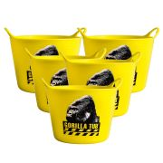 Gorilla SPMICYPK5 Gorilla Yellow Micro Tub 0.37L (95mm Diameter 70mm Deep) - Pack of 5