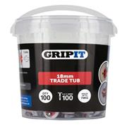 Gripit  Gripit 18mm Red Plasterboard Fixing - Pack of 100