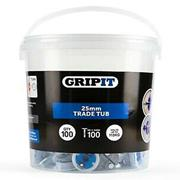 Gripit  Gripit 25mm Blue Plasterboard Fixing - Pack of 100
