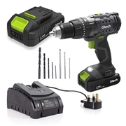 Gtech GTE112001KIT Gtech 20V Cordless Combi Drill with 1x 20V Battery, Charger &  8Pc Drill Bit Set