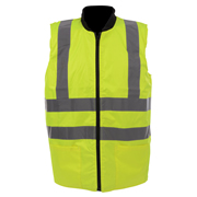 Guardsman 467650 Reversible Hi-Vis Bodywarmer - Yellow/Navy