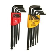 Hafu HKS0002 Metric & Imperial Long Arm Ball End Hex Key Sets
