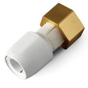 "Hep20 HD25B/22W Hep2o 22mm x 3/4"" Straight Tap Connector Brass Nut White"