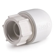 "Hep20 HD26B/22W Hep2o 22mm x 3/4"" Hand Titan Tap Connector White"