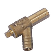 Hep20 HX32/15 GY Hep20 15mm x Brass Draincock Spigot - Pack of 10